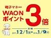 電子マネーWAONポイント3倍!【12/1(金)~1/9(火)】